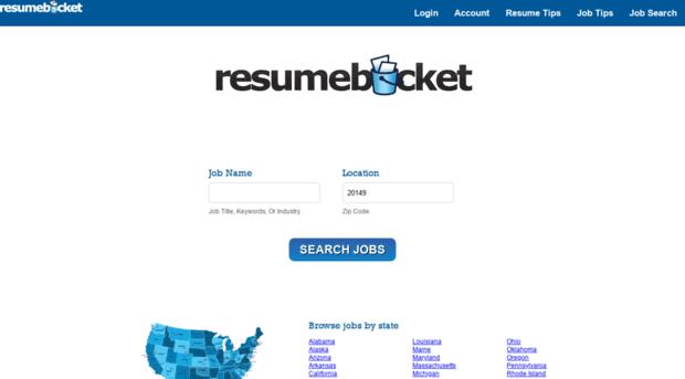 Resume Bucket - Resume Ideas