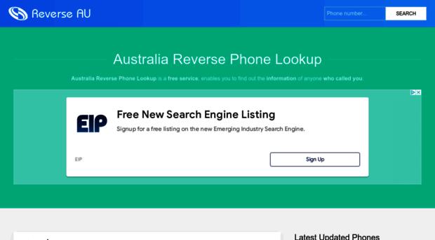 Australia reverse phone number lookup
