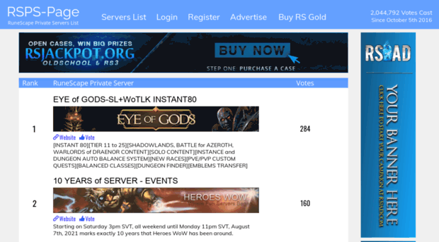 rsps-page com RuneScape Private Servers: RSPS-Page the Definitive