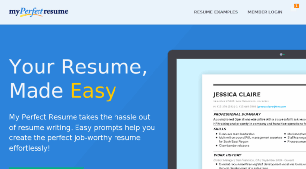 myperfect resume 3 resume template resumecom safe my perfect login - Myperfect Resume