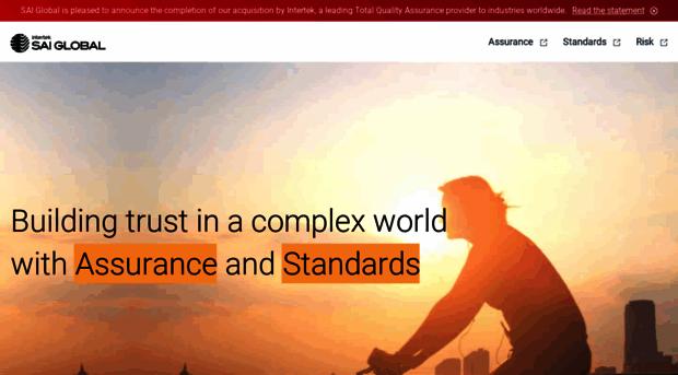saiglobal com - SAI Global, the compliance and risk experts