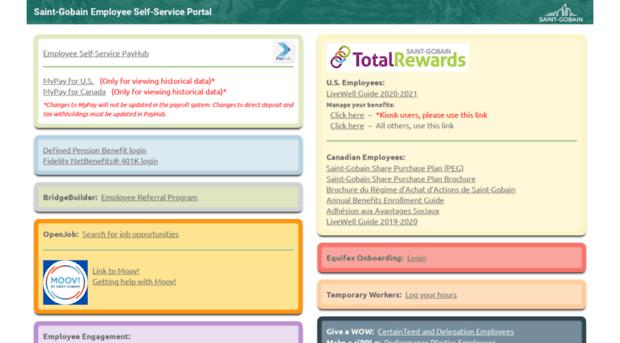 saint-gobainselfservice com Self Service Portal | Saint