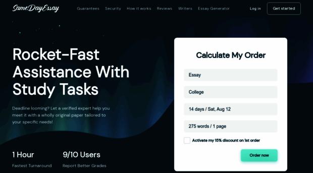 Same day essay writing service