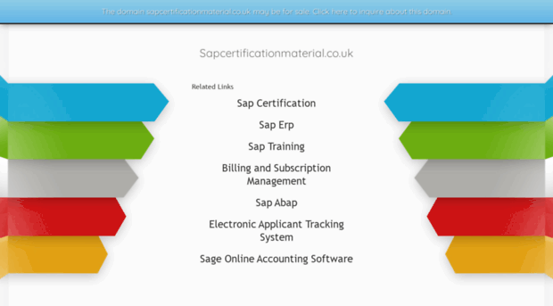 sapcertificationmaterial.co.uk - SAP certification and installa ...