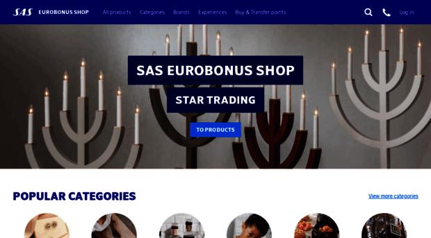 sas eurobonus shop