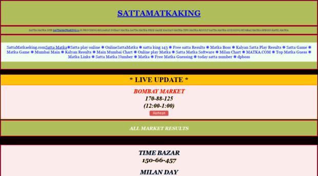 sattamatkaking in - SATTA MATKA KING  SATTAMATKAKI