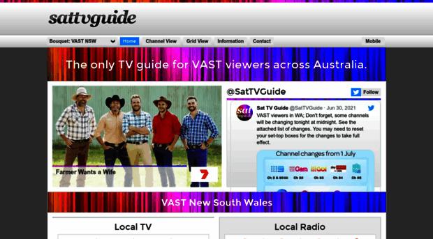 sattvguide com au - Sat TV Guide - The only TV gui    - Sat