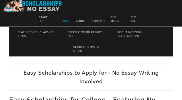 Easy no essay scholarships