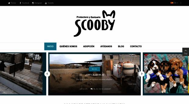 Captura de la página de la protectora Scooby en Valladolid