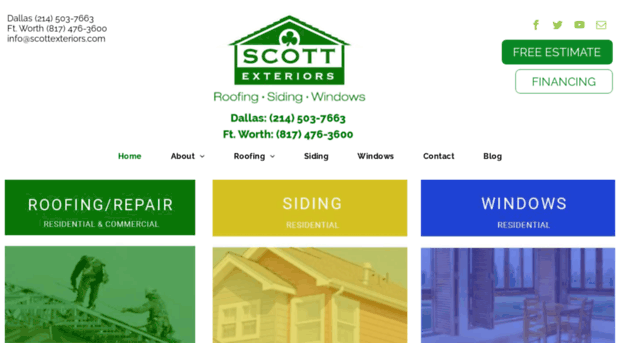 Scott Exteriors A Family Owned Roofing, Windows And Siding Company That Has  Proudly Served The Greater Dallas Area Since 1997. (.