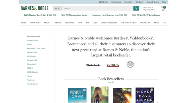 compare and contrast amazon com barnes and noble com and borders com