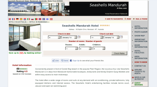 seashells-resort-mandurah.h-rez.com