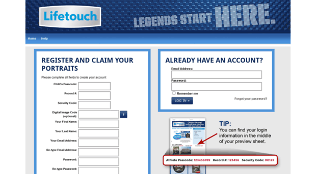 Lifetouch Sports Digital Image Code - Digital Photos and