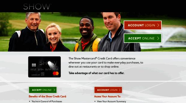 Show credit card login