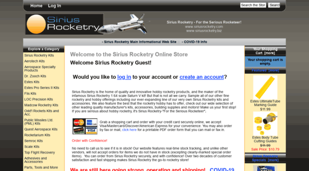 siriusrocketry biz Sirius Rocketry Online Store, For the