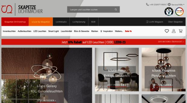 leuchten lampen led lichtp skapetze. Black Bedroom Furniture Sets. Home Design Ideas
