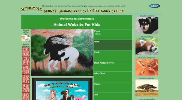 skyenimals com animal website for kids skyenimals
