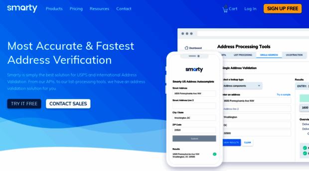 Smartystreetscom USPS International Address V Smarty Streets - Smartystreets