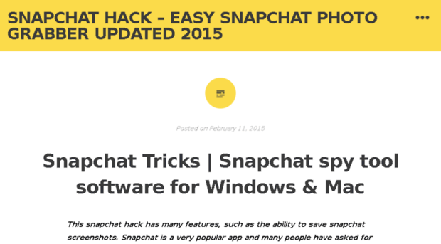 snapchatphotograbber wordpress com - Snapchat Hack – Easy