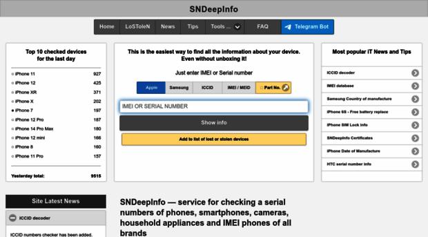 sndeep info - SNDeepInfo - All information o    - Sn Deep