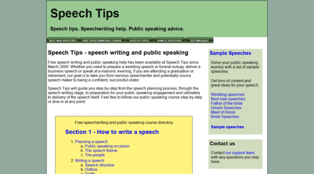writing and speech