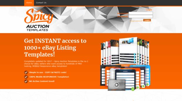 spicyauctiontemplates.com - PREMIUM Low Cost eBay Template ...