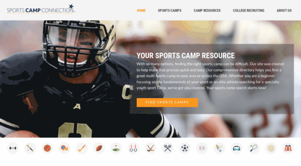 sportscampconnection com youth sports camps list of a