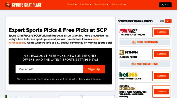 sportschatplace com - Free Picks, Expert Predictions & Odds