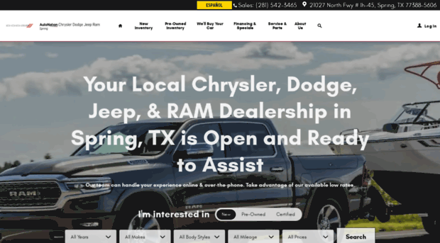 Chrysler Dodge Jeep U0026 RAM Dealer Near Me Spring, TX | AutoNation Chrys.