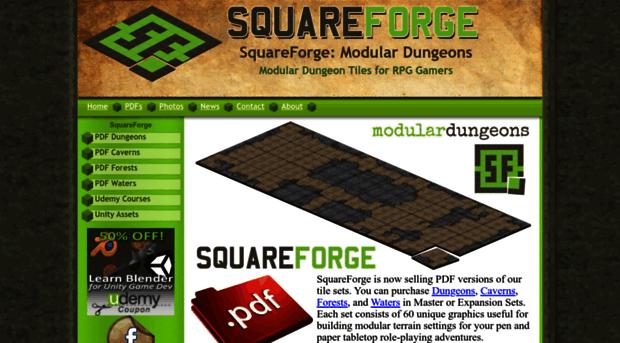 squareforge com modular dungeon tiles for rpg squareforge