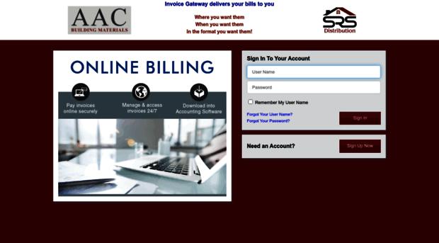 Srsicorpbilltrustcom SRS Distribution Invoice Gatew SRS - Invoice gateway