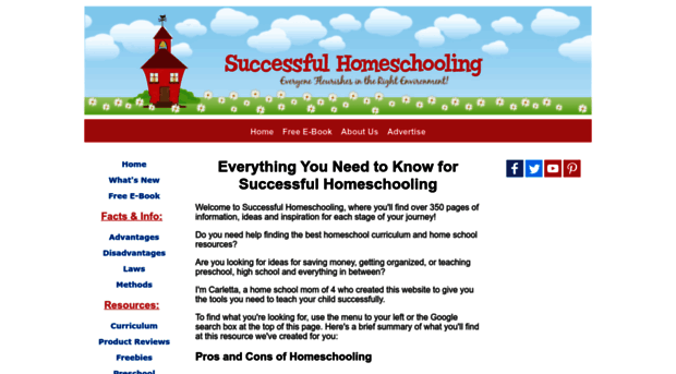 Free Homeschool Curriculum Successful Homeschooling