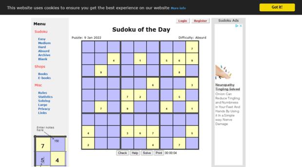 sudokuoftheday co uk - Sudoku of the day  The hardest sudoku