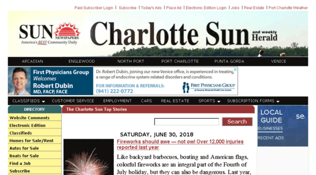 Charlotte sun newspaper personals