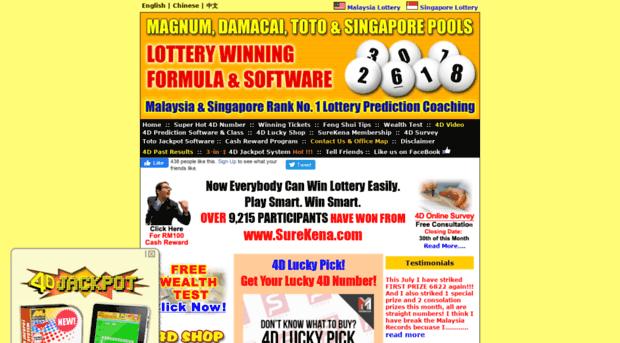 surekena com - Malaysia & Singapore Lottery R    - Surekena