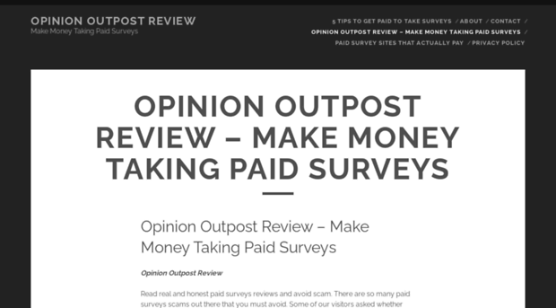 opinion outpost Total: 46 facebook42 twitter3 pinterest1join opinion outpost and start sharing your opinion to earn cash and gift cards they currently offer both amazon gift cards, paypal cash and itunes gift cards as payout options.