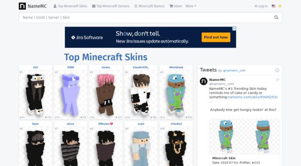 Svnamemccom Minecraft Names Skins Name Sv NameMC - Minecraft namemc skins