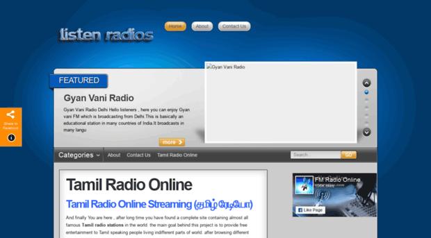 tamil listenradios com - Listen Tamil Radio Stations On    - Tamil