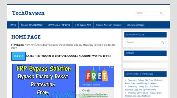 techoxygen com - FRP Bypass APK Solutions   FRP Bypass Apk