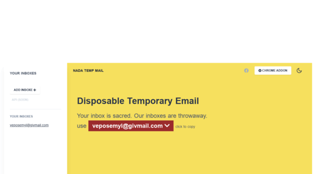 temptami com Nada - temp mail - fast and free