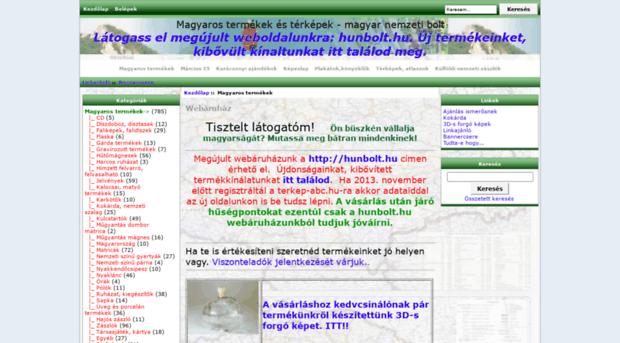 terkep-abc.hu - Magyaros termékek és térképek ... - Terkep Abc 186d30bf6a