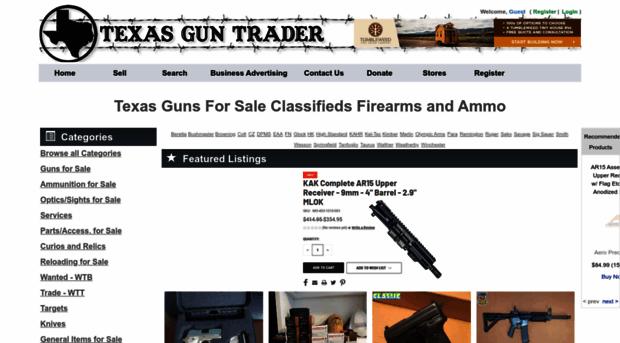texasguntrader com buy sell trade guns online us texas gun