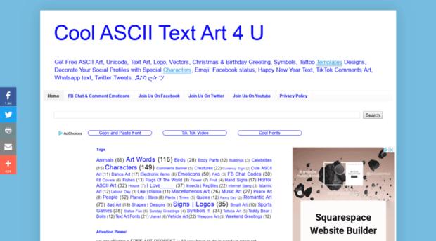 Textart4ublogspotin Cool Ascii Text Art 4 U Text Art 4