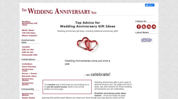The Wedding Anniversary Site Wedding Anniversary Gift Ideas