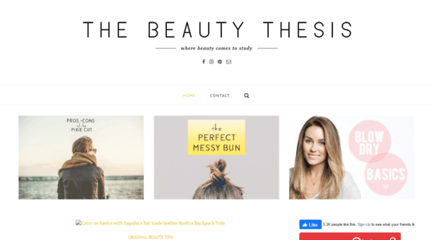 The Beauty Thesis - Natural Beauty Solutions