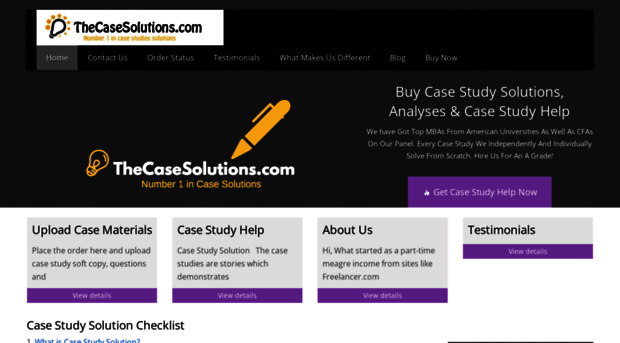 case study solutions mba