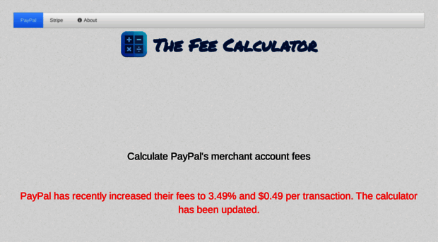 thefeecalculator com The Fee Calculator - Calculate PayPal merchant