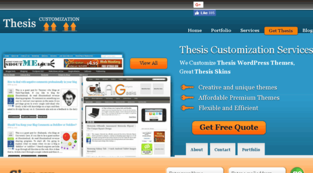 thesis theme customization Thesis customization service 884 likes thesis customization service is professional web service to customize best wordpress theme: thesis theme.