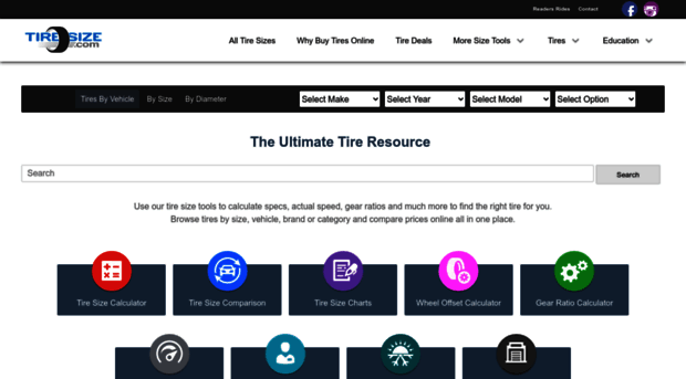 Compare Tire Sizes >> Tiresize Com Tiresize Com Compare Tire Sizes Specs