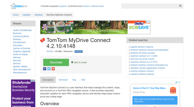 my connect tomtom download
